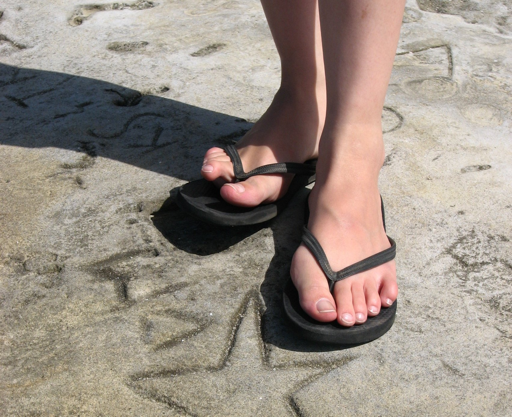 Your Sexy toes black flip flops all